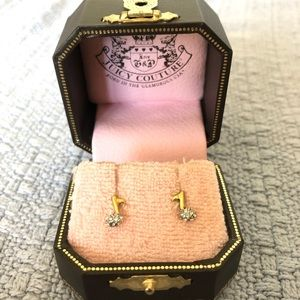 Juicy couture earrings music notes
